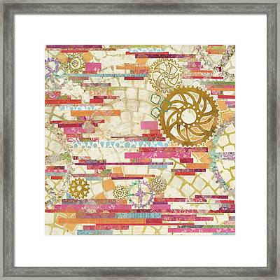 Eu Timetable I On White Framed Print by Kathy Ferguson