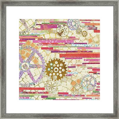 Eu Timetable II On White Framed Print by Kathy Ferguson