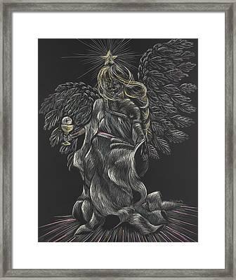 Eucharist Angel Framed Print