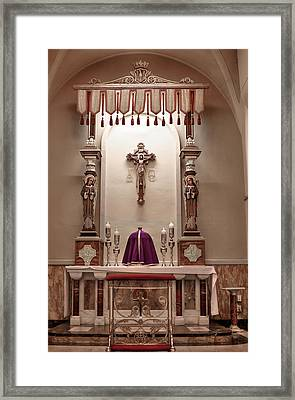 Framed Print featuring the photograph Eucharistic Altar by Cecil Fuselier