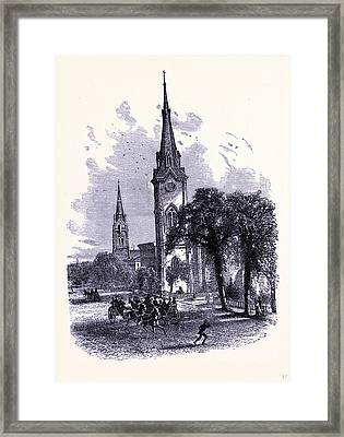 Euclid Avenue In Cleveland United States Of America Framed Print by American School