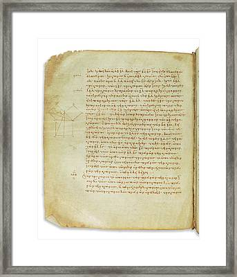 Euclid's Elements Of Geometry Framed Print by Bodleian Museum/oxford University Images