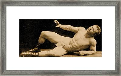 Eugen Sandow Framed Print by Benjamin J Falk