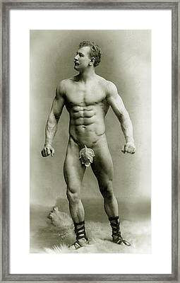 Eugen Sandow In Classical Ancient Greco Roman Pose Framed Print by American Photographer