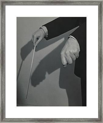 Eugene Ormandy's Hands Framed Print by Herbert Matter