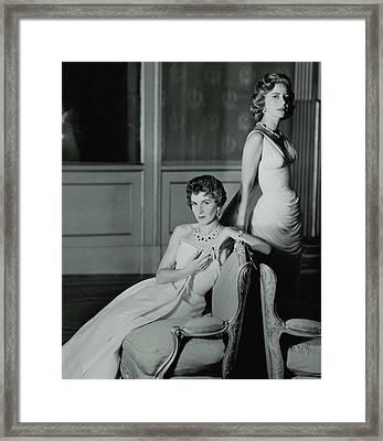 Eugenia Livanos And Athina Livanos Onassis Framed Print