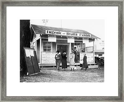 Eugenics Exhibit At Public Fair Framed Print