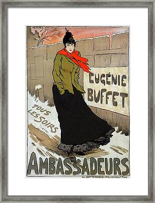 Eugenie Buffet Framed Print by Charlie Ross