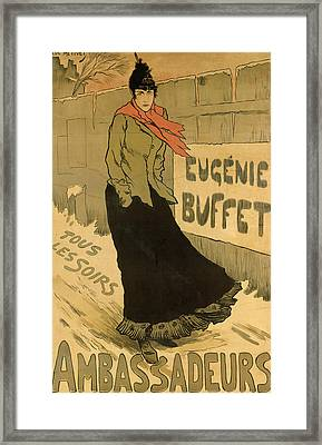 Eugenie Buffet Poster Framed Print by Lucien Metivet