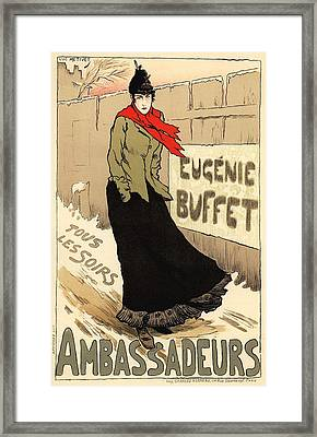 Eugenie Buffet Tous Les Soirs Framed Print by Gianfranco Weiss