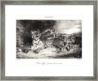 Eugène Delacroix French, 1798 - 1863. Young Tiger Playing Framed Print
