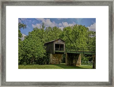 Euharlee Covered Bridge Framed Print by Barbara Bowen