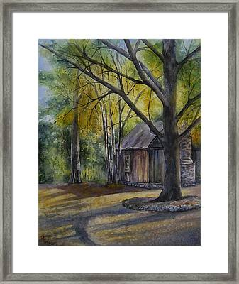 Framed Print featuring the painting Eulah's Gold by Mary McCullah