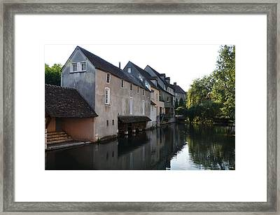 Eure River And Old Fulling Mills In Chartres Framed Print