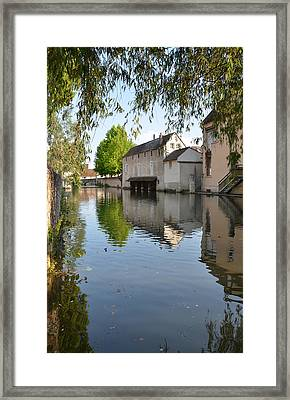 Eure River In Chartres Framed Print