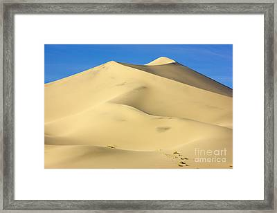 Eureka Dunes Death Valley Natl Park Framed Print by Yva Momatiuk John Eastcott