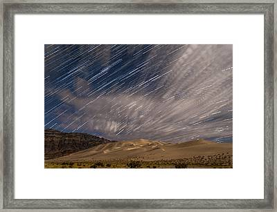 Eureka Dunes Star Trails Framed Print by Cat Connor