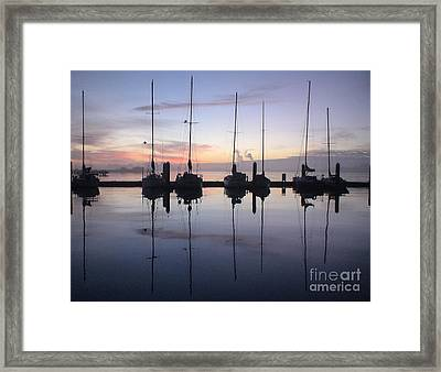 Eureka Harbor At Sunset Framed Print