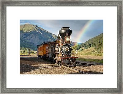 Eureka Rainbow Framed Print by Ken Smith