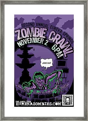 Eureka Springs Zombie Crawl 2013 Framed Print