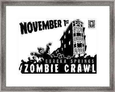 Eureka Springs Zombie Crawl 2014 Black And White Framed Print