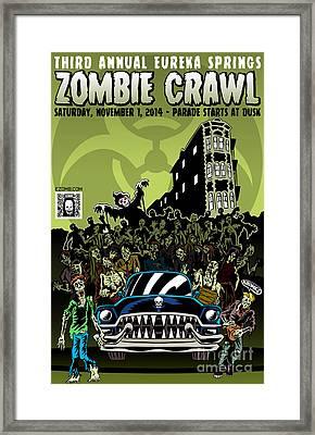 Eureka Springs Zombie Crawl 2014 Framed Print