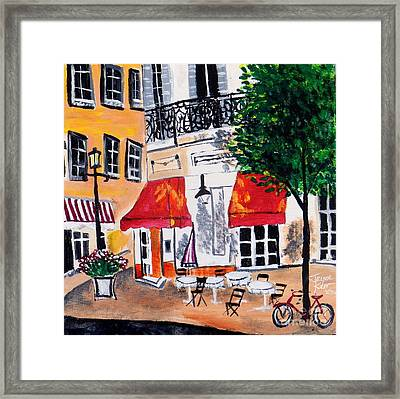 Euro Cafe Framed Print