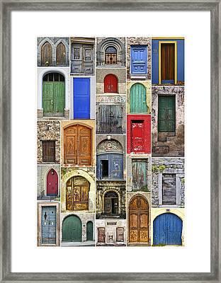 Euro Door Panel Framed Print by Daniel Hagerman