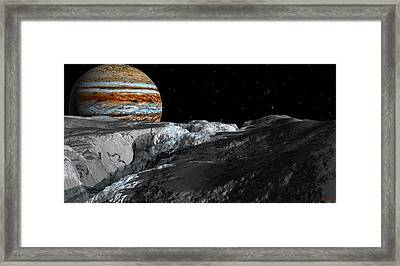 Europa Icefields Framed Print