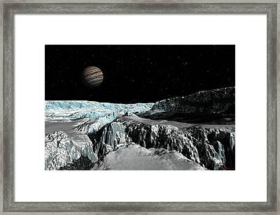Europa's Icefield  Part 2 Framed Print