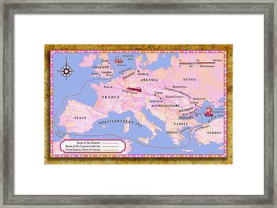 Europe 1890 The Orient Express Framed Print by Del Gaizo