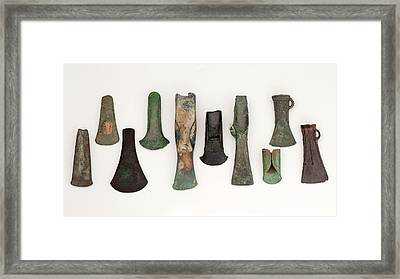 Europe Bronze Age Axes From Early To Late Framed Print by Paul D Stewart