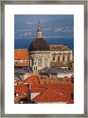 Europe, Croatia, Dubrovnik, Red Tiled Framed Print