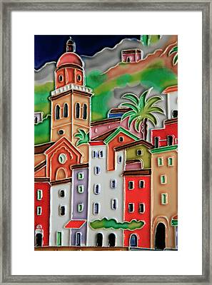 Europe, Italy Italian Hand-painted Framed Print by Kymri Wilt
