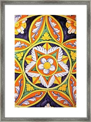 Europe, Italy Traditional Hand-painted Framed Print by Kymri Wilt