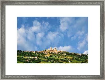 Europe, Italy, Tuscany, San Gimignano Framed Print by Jaynes Gallery