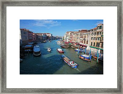 Europe Italy Venice View From Rialto Framed Print