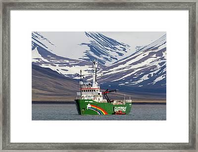 Europe, Norway, Svalbard, Longyearbyen Framed Print