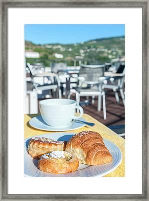 Europe, Portugal, Regua, Breakfast Framed Print
