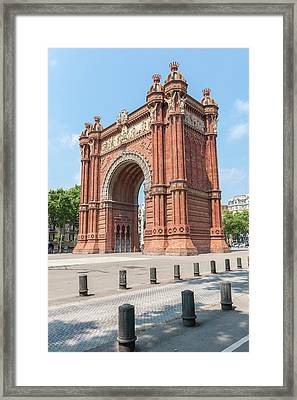 Europe, Spain, Barcelona, Arc De Triomf Framed Print by Lisa S. Engelbrecht