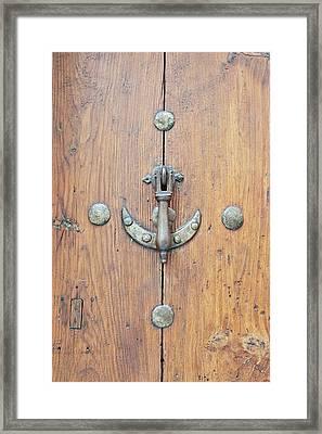 Europe, Spain, Toledo, Door Knocker Framed Print by Rob Tilley