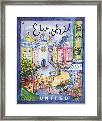 Europe United Airlines Framed Print