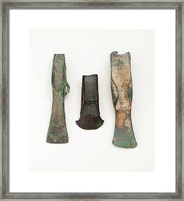 European Bronze Age Axe Heads Framed Print by Paul D Stewart