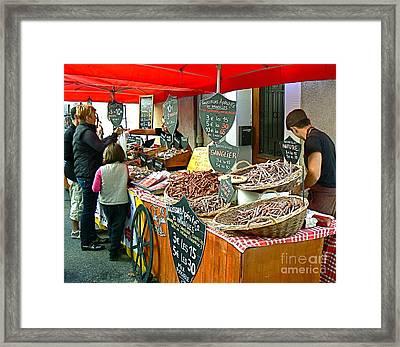 French Street Market Framed Print by France  Art