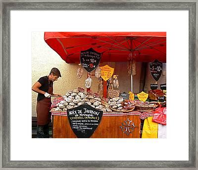 A European Butcher Framed Print by France  Art