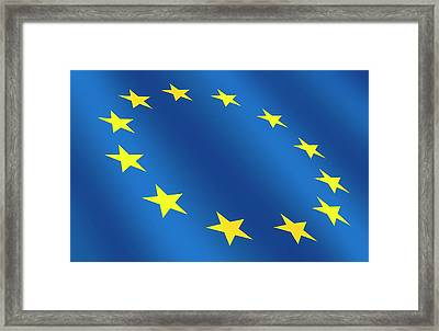 European Flag Framed Print by Detlev Van Ravenswaay