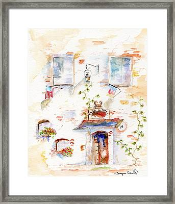 Framed Print featuring the painting European Hotel by Tamyra Crossley