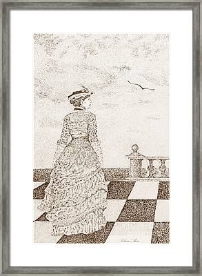 European Lady In The 19 Century Framed Print