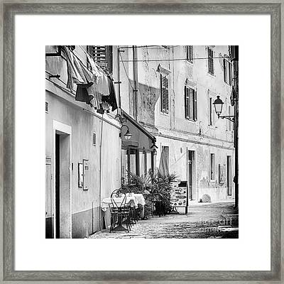European Street Scene Framed Print by Kate McKenna