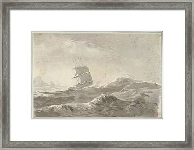 European Vessel Under Sail Framed Print by British Library